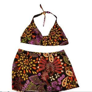 VICTORIA'S SECRET 2 Pc Bikini Skirt Swim Suit